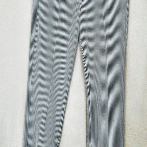 Express navy and white stripe columnist ankle pant
